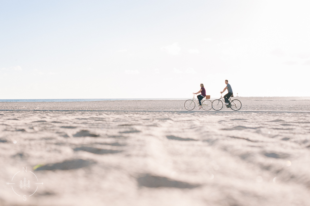 Beach Bicycle Engagement