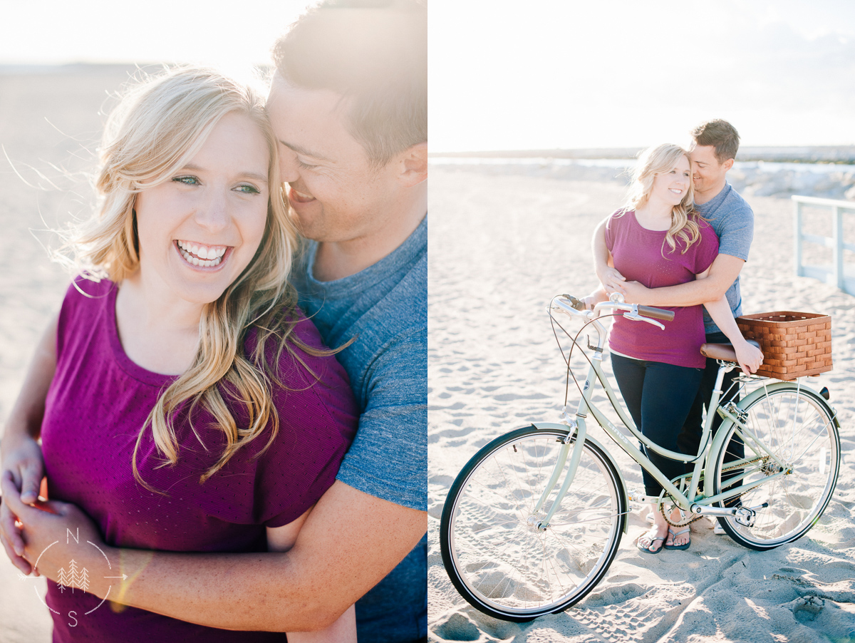 Bicycle Beach Engagement Photography