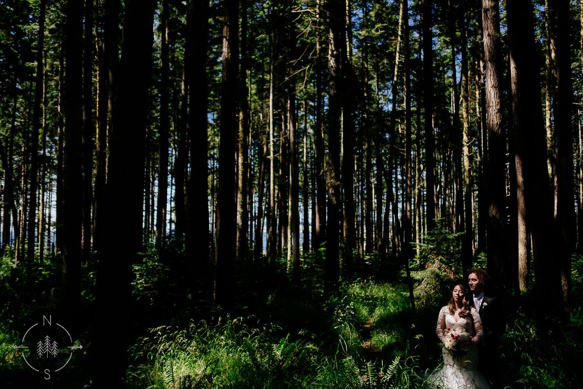 Whidbey Island Forest Wedding
