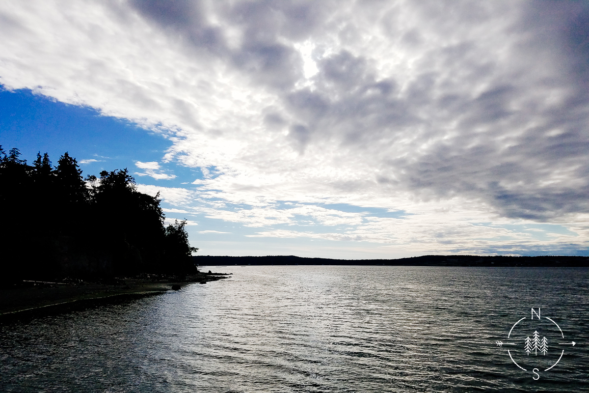 View from Deception Pass in Whidbey Island